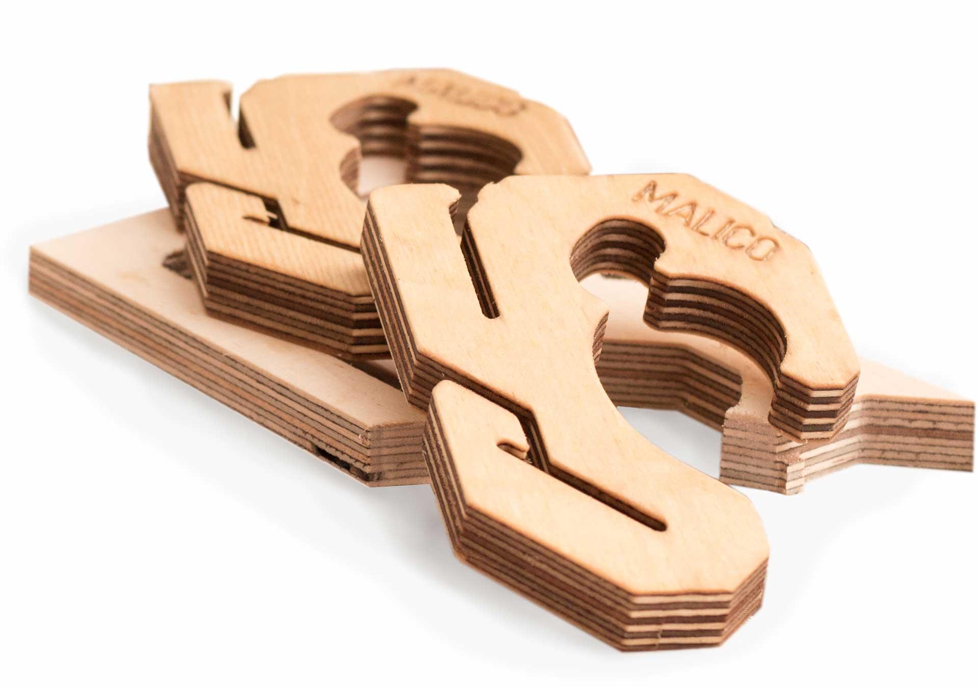 2x Holzhalterung
